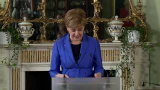 First Minister's press conference at Bute House