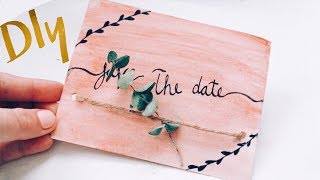 DIY SAVE THE DATE CARDS 2018   On A BUDGET!