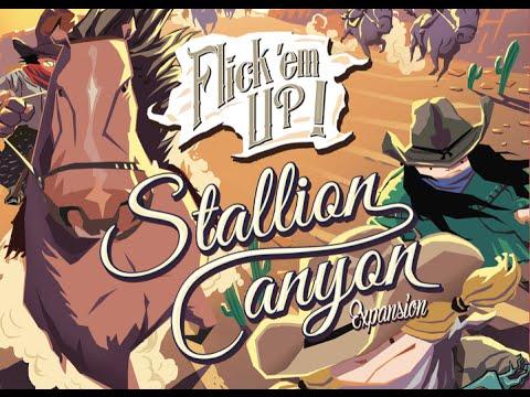 Board Game Brawl Reviews - Flick 'em Up! Stallion Canyon