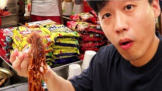 Korean Street Ramyeon at Gwangjang Market Korean Street Food Ramen
