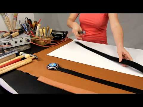 Fabrication d'une ceinture en cuir - www.cuirtextilecrea.com