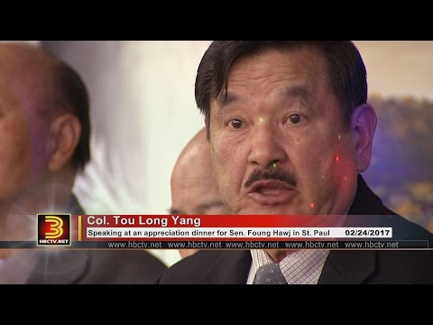 3 HMONG NEWS: Col. TouLong Yang's powerful speech at MN Hmong Veteran's Action Committee dinner.