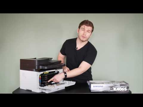 Samsung C460 Color Laser Printer - How to change toner K406