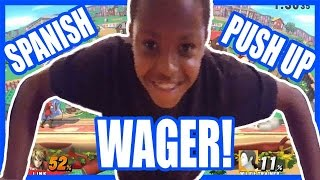 SPANISH PUSH UP WAGER REVISITED! - Super Smash Bros Wii U Gameplay   Wifey Beatdown 9 Pt.1