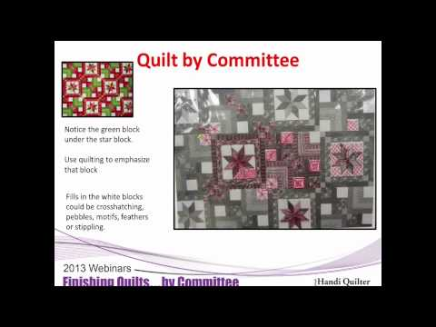 HQ Webinar Feb 2013 - Finishing Quilts