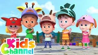 Head Shoulders Knees and Toes | Schoolies Cartoons & Nursery Rhymes for Kids - Kids Channel