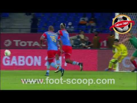 كأس إفريقيا 2017 :هدف الكونغو الديمقراطية في مرمى المغرب (1-0)