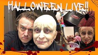 Happy Halloween 2018 LIVE & SWIZZELS Unboxing   Nadia Sawalha & Family