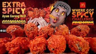 14 KETUL MCD AYAM GORENG 3X EXTRA SPICY.. OK! JAMBAN DA KIRIM SALAM   EATING SHOW W/ ASMR