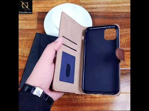 Tango Business Leather Flip Book Case For Samsung Galaxy Note 10 Plus - Brown