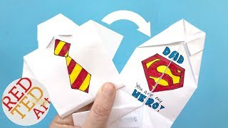 Easy Origami Shirt - How To Draw Superman Logo - Fathers Day - Collar Rainbow Tinkles World