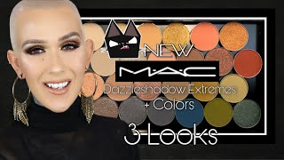 NEW MAC Dazzleshadow Extremes + Revamped Colors / 3 Looks & Review