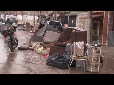 Confira como que ficou um dos bairros mais afetados pelo temporal na região do Grande ABC