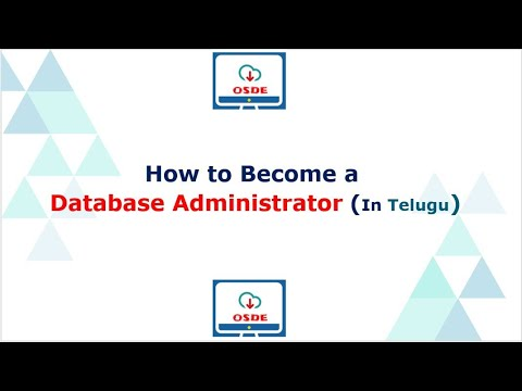 How to Become a Database Administrator (In Telugu)