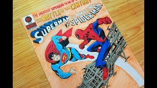 Speed Drawing Superman vs Spider-man (Comic Book)