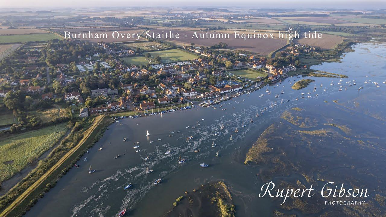 Autumn Equinox at Burnham Overy Staithe - 4K video