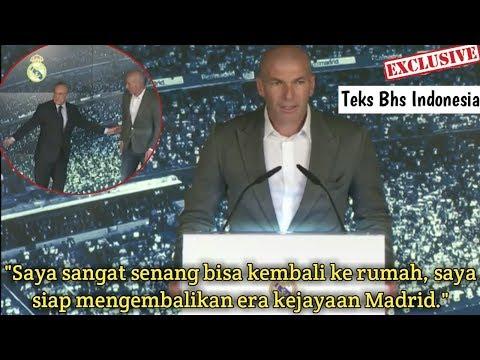 Pidato Zidane Kembali Melatih Real Madrid | Kisah Zinadine Zidane Kembali ke Madrid Lagi