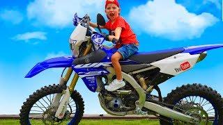 Baby Biker Tisha  Ride on Pocket Bike, Cross Bike, Sportbike! Stunts, Drifts in Real Life
