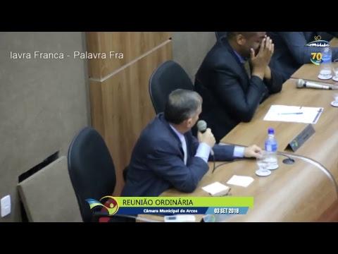 Reunião Ordinária (03/09/2018) - Câmara de Arcos