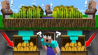 WHY NOOB STEAL WHEAT FROM VILLAGERS? Stealing bread in Minecraft Noob vs Pro