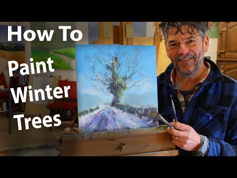 Thumbnail of Painting winter trees