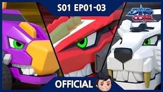 [Official] DinoCore | Series | Dinosaur RobotAnimation | Season 1 Episode 1~3
