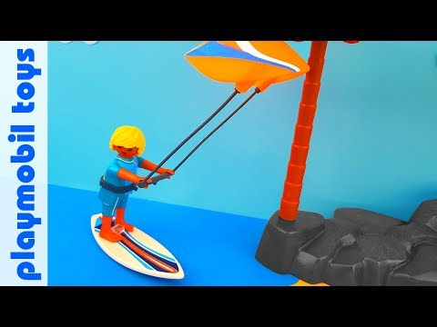 Unpack Playmobil sports and action 6838 Kite Surfer Gift Egg