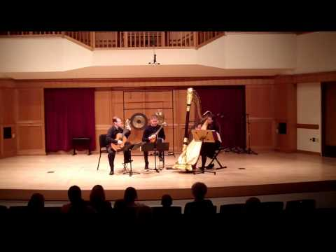 "Henze's trio for harp, mandolin, and guitar. This is the movement titled ""Rectatif."""