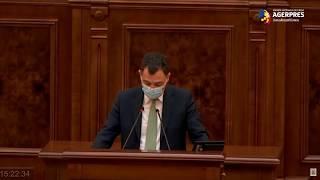 Senatul României: Dezbaterea şi votul moţiunii simple împotriva ministrului Afacerilor Interne, Marcel Vela