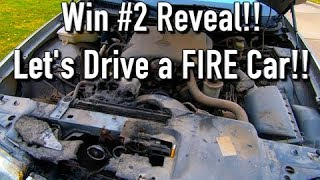 Copart Win #2 Reveal: Let's Drive a FIRE CAR!!