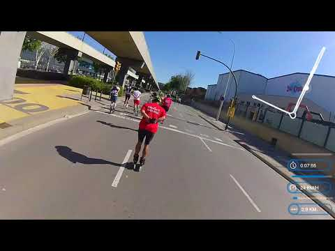 BARCELONA ROLLER MARATHON 2019. 24 km