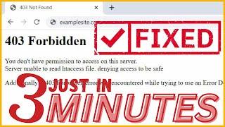 How to Fix 403 Forbidden Error ?? #2Ways