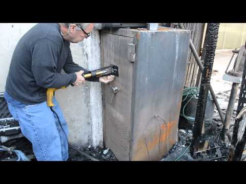 Gun Safe Fully Engulfed In Warehouse Fire