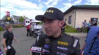 NASCAR Max Papis Sends Marcos Ambrose Into The Wall | Watkins Glen (2013)