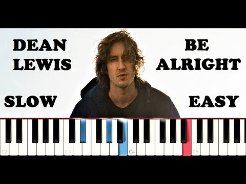 Dean Lewis - Be Alright (SLOW EASY PIANO TUTORIAL)