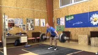 Petr Petrov CZE, snatch 128kg in training