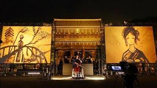 2016.03.19京都東山花灯路サンドアートパフォーマンス