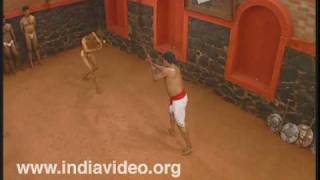 Use of stick in Kalaripayattu