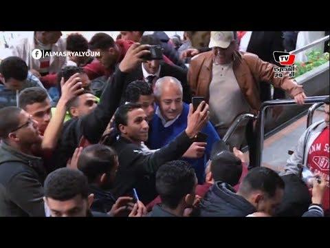 حصار أهلاوي للعامري فاروق وطارق قنديل عقب انتهاء مباراة الأهلي وشبيبة الساورة