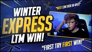 PLAYING THE APEX LEGENDS WINTER EXPRESS LTM AND GETTING MY FIRST VICTORY ON MY FIRST TRY!