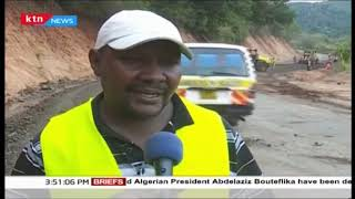 Murang\'a county road in tatters as contractor yet to complete works