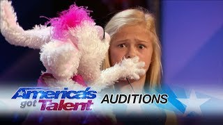 Darci Lynne: 12 Year Old Singing Ventriloquist Gets Golden Buzzer   America's Got Talent 2017