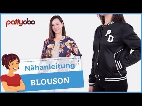 Blouson mit Taschen, Bündchen und Knopfleiste nähen + Jacke füttern