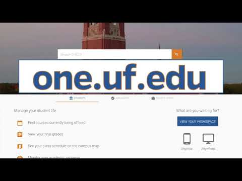 ONE.UF Video - Fall 2018 Updates - YouTube