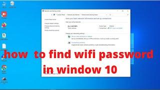 how to find wifi password in window 10 (2020) //how to find wifi password windows 10 / tech vnod