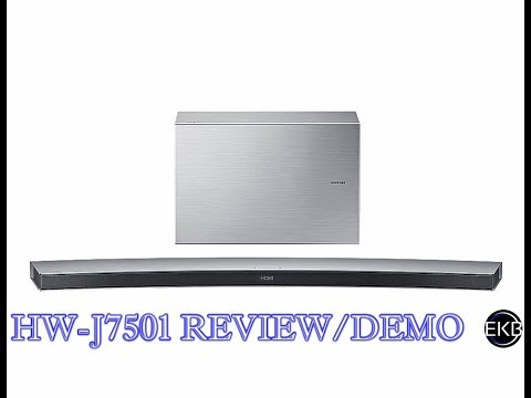 Samsung HW-J7501 Curved 8.1 Channel Soundbar | Review & Demo