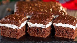 Шоколадный бисквит с кремом- необыкновенный десерт, покоряющий с первого кусочка! | Appetitno.TV