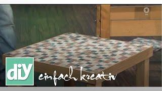 Couchtisch mit Mosaikfliesen in Naturstein | DIY einfach kreativ