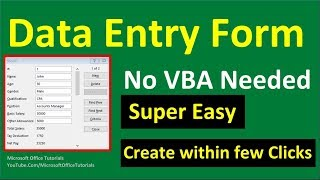 How to Create Excel Data Entry Form (No VBA) | Super Easy