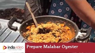 Cooking oyster and banana, Malabar style